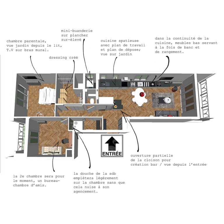Comment transformer un t2 en t3 et augmenter la valeur de votre appartement - Cuisine de 16m2 ...