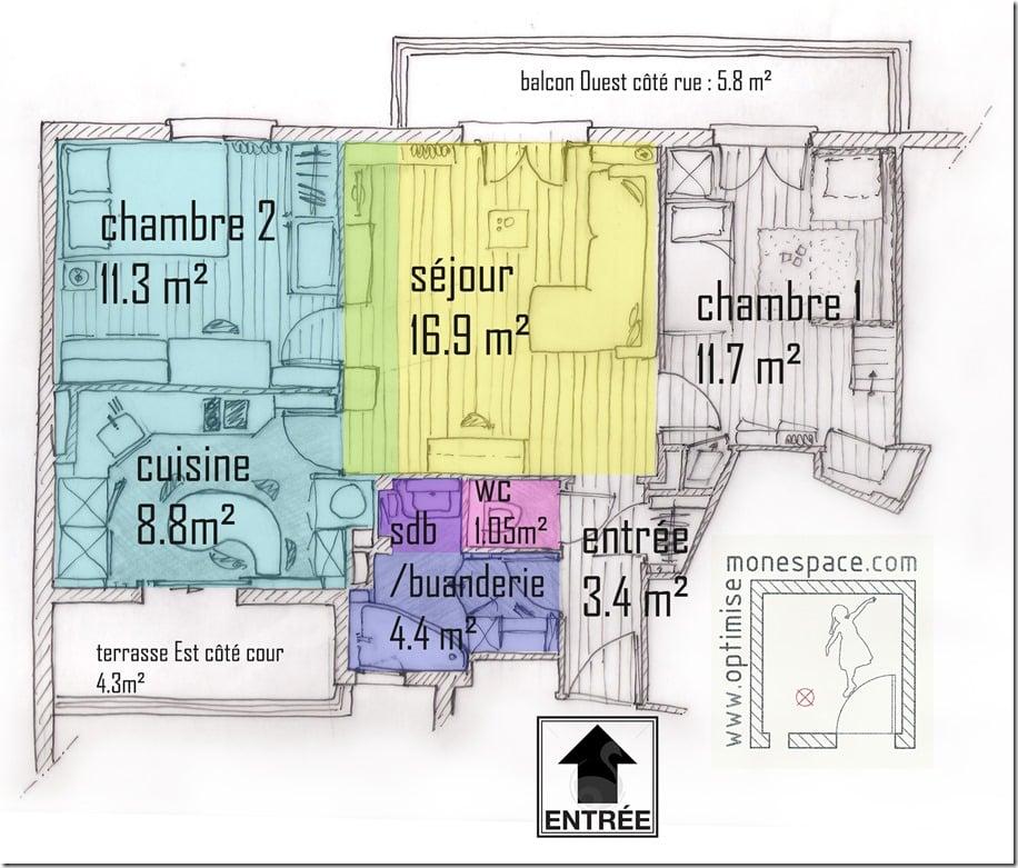 COMMENT J'AI TOTALEMENT TRANSFORME 58 M² EN BOUGEANT UNE CLOISON