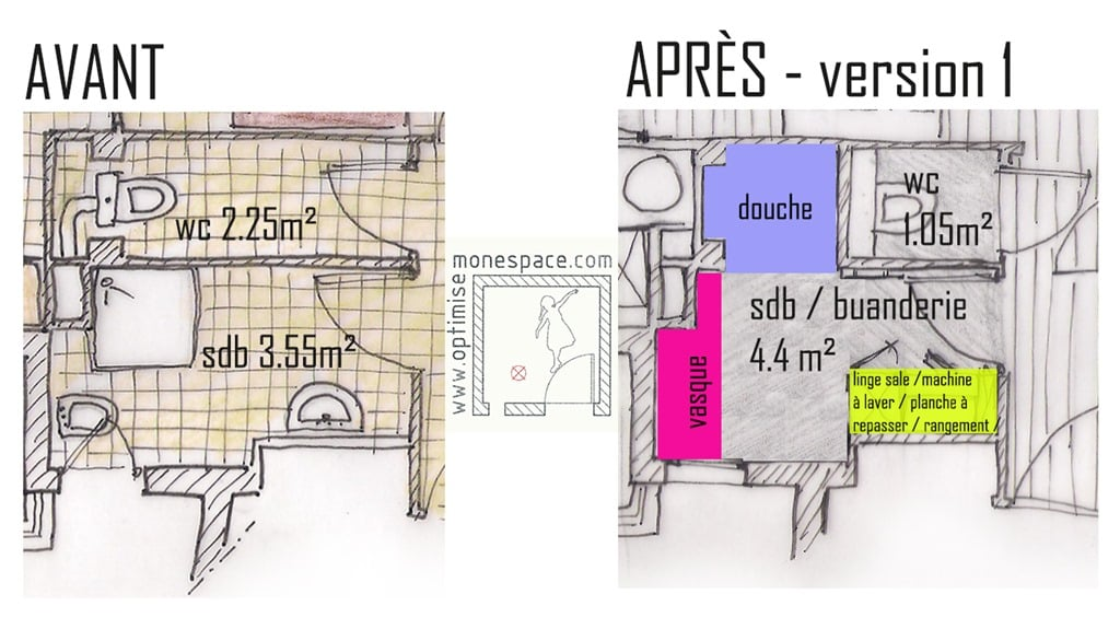 Plan Sdb 4m2 Conceptions Architecturales