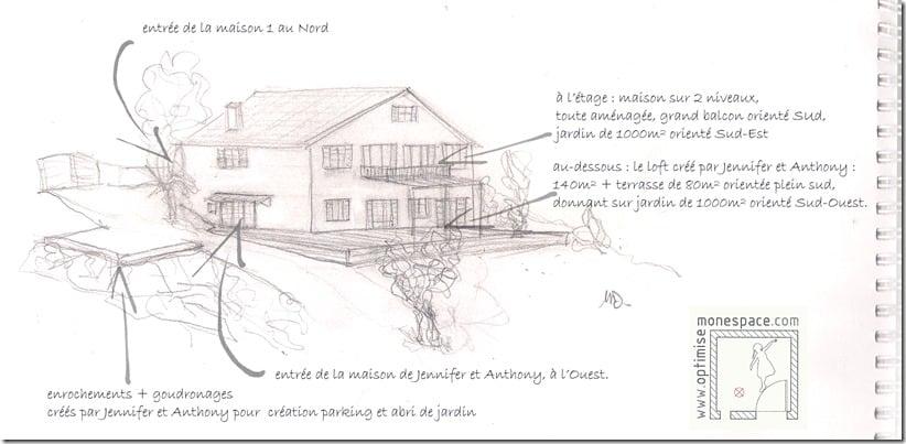 Division de la maison en 2 logements